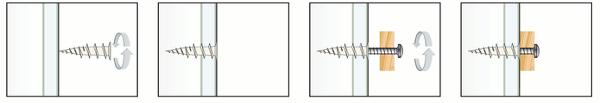 Gipskartondübel Montage und Anwendung