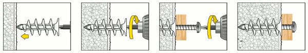 Isolierdübel IPL60 Montage