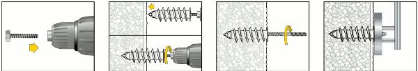 Isolierdübel IPL95 Montage