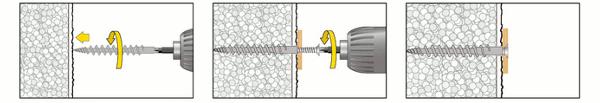 Isolierplattenschraubdübel IPSD80 Montage mit TX25 Bit