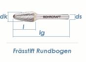 12mm HM-Frässtift Rundbogen (1 Stk.)