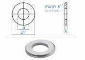 17mm Unterlegscheiben DIN125 Form B Edelstahl A2 (10 Stk.)