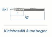 3mm HM-Kleinfrässtift Rundbogen (1 Stk.)