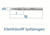 3mm HM-Kleinfrässtift Spitzbogen (1 Stk.)
