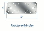 100 x 35 x 2,5mm Flachverbinder verzinkt (1 Stk.)