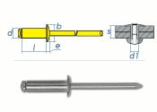 5 x 14mm Blindniete Stahl/Stahl DIN7337 (10 Stk.)