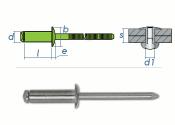 3,2 x 8mm Blindniete Edelstahl A2 DIN7337 (10 Stk.)