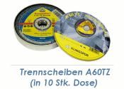 125 x 1mm Trennscheibe f. Metall / Edelstahl A60TZ...