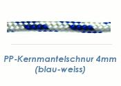 4mm PP Kernmantelschnur blau/weiss (je 1 lfm)