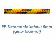 5mm PP- Kernmantelschnur gelb/blau/rot (je 1 lfm)