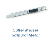 9mm Cutter Messer Samurai Metal  (1 Stk.)