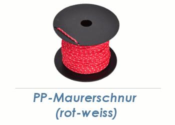 1,7mm PP- Maurerschnur rot/weiß 100 m (1 Stk.)