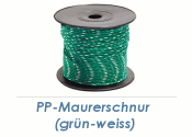 2mm PP- Maurerschnur grün/weiß 100 m (1 Stk.)