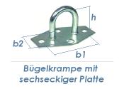 30mm Bügelkrampe mit sechseckiger Platte verzinkt (1 Stk.)