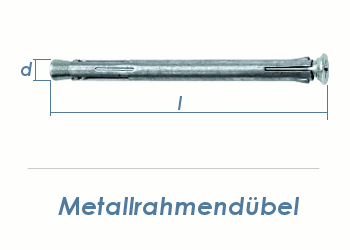 10 x 132mm Metallrahmendübel (1 Stk.)