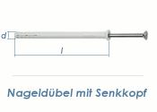 6 x 60mm Nageldübel m. Senkkopf (10 Stk.)