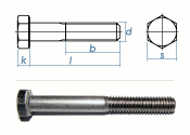 M12 x 120mm Sechskantschrauben DIN931 Teilgewinde...