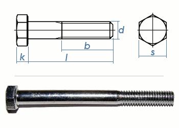 M10 x 140mm Sechskantschrauben DIN931 Teilgewinde Stahl verzinkt FKL8.8 (1 Stk.)