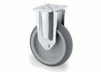125 x 32mm Bockrolle Gummi (1 Stk.)