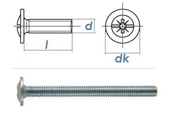 M4 x 22mm Möbelgriffschrauben verzinkt  (100 Stk.)