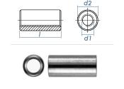 M6 x 20mm Gewindemuffe rund Edelstahl A2 (1 Stk.)