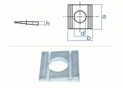 11mm Keilscheibe DIN434 Stahl verzinkt (1 Stk.)