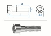 M3 x 4mm Zylinderschrauben TX ISO14579 Edelstahl A2 (10...