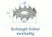 17/50mm Einpressdübel Bulldog doppelseitig feuerverzinkt (1 Stk.)