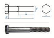 M8 x 65mm Sechskantschrauben DIN931 Teilgewinde Edelstahl...