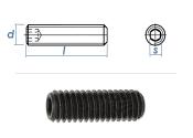 M5 x 12mm Gewindestift Kegelkuppe DIN913 45H schwarz (100...