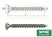 8 x 260mm SPAX Konstruktionsschrauben Vollgewinde TX...