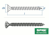 8 x 350mm SPAX Konstruktionsschrauben Vollgewinde TX...