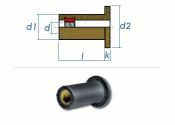 M5 x 20,6mm EPDM-Blindnietmuttern (1 Stk.)