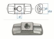 M12 Simplex Mutter Stahlguss verzinkt (1 Stk.)