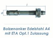 M10 x 112mm Bolzenanker Edelstahl A4 - ETA Opt. 1 (1 Stk.)