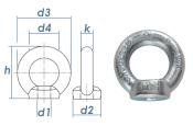 M12 Ringmutter DIN 582 Stahl C15E verzinkt (1 Stk.)