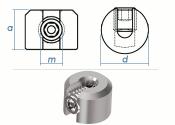 2mm Drahtseilklemmring 1-Teilig Edelstahl A4 (1 Stk.)