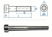 M8 x 75mm Zylinderschrauben DIN912 Edelstahl A2  (1 Stk.)