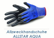 Allzweckhandschuhe Nitril Allstar Aqua schwarz Gr. 8 (M)...
