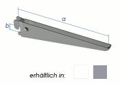 470 x 50mm U-Träger weiss (1 Stk.)