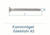 4 x 60mm Kamm Nägel Edelstahl A2 (10 Stk.)