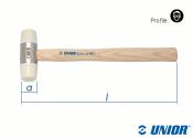 32mm UNIOR Schonhammer mit Holzstiel 820A (1 Stk.)