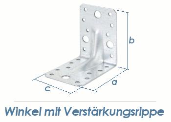 90 x 90 x 65mm Winkel verzinkt mit Verstärkungsrippe (1 Stk.)