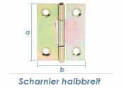 51 x 37mm Scharnier halbbreit gelb verzinkt (1 Stk.)