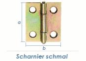 82 x 45mm Scharnier schmal gelb verzinkt (1 Stk.)