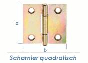 38 x 38mm Scharnier quadratisch gelb verzinkt (1 Stk.)