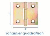 51 x 51mm Scharnier quadratisch gelb verzinkt (1 Stk.)