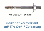 M12 x 300mm Bolzenanker verzinkt - ETA Opt. 7 (1 Stk.)