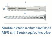 10 x 80mm Multifunktionsrahmendübel inkl. TX40...