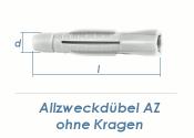 6 x 37mm Allzweckdübel ohne Kragen (10 Stk.)